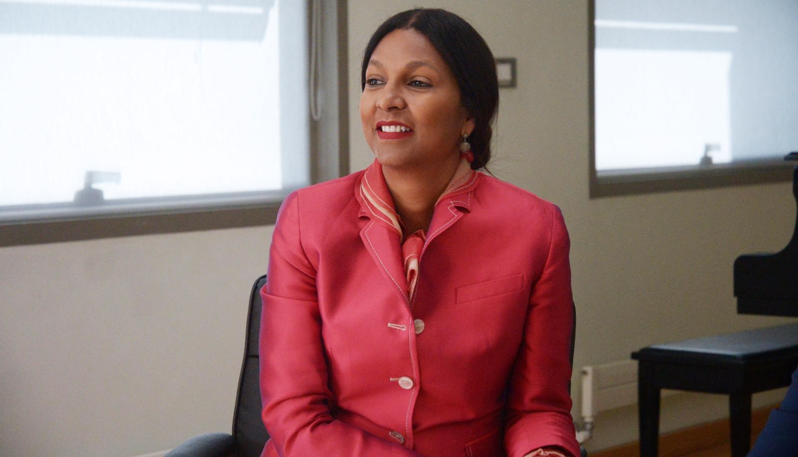 First Lady of Belize Kim Simplis Barrow at AUA
